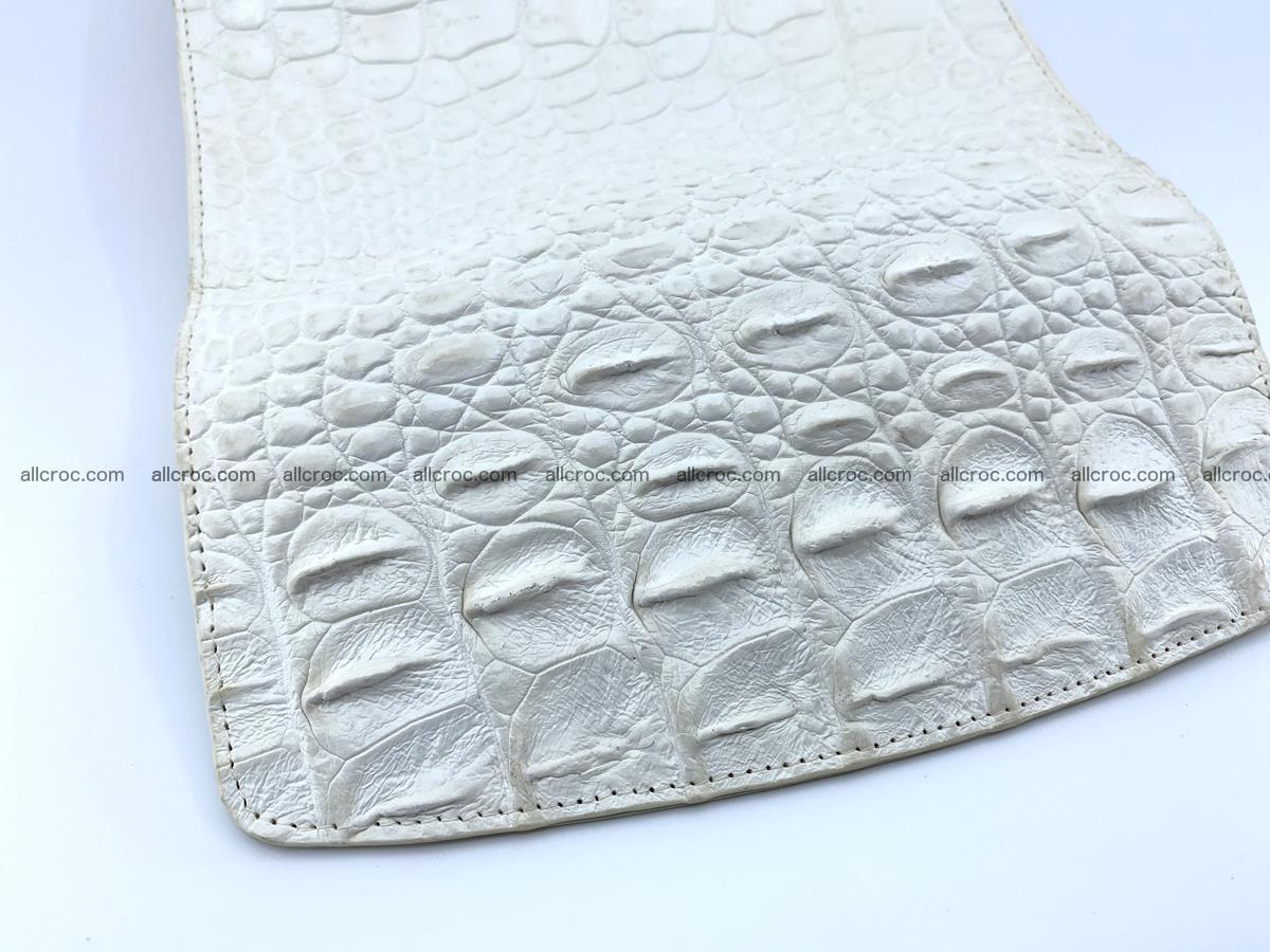 Crocodile skin wallet trifold for women 516 Foto 5