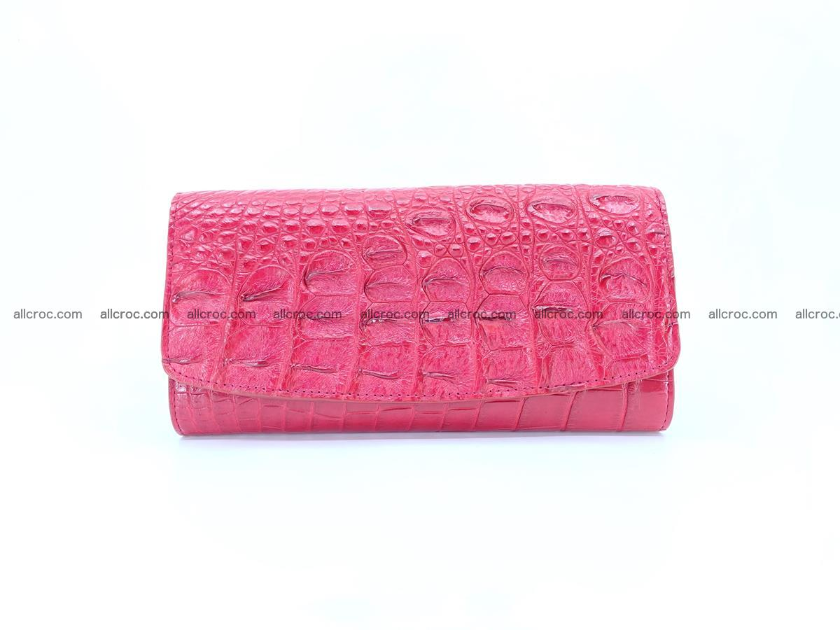 Crocodile skin wallet trifold for women 514 Foto 0