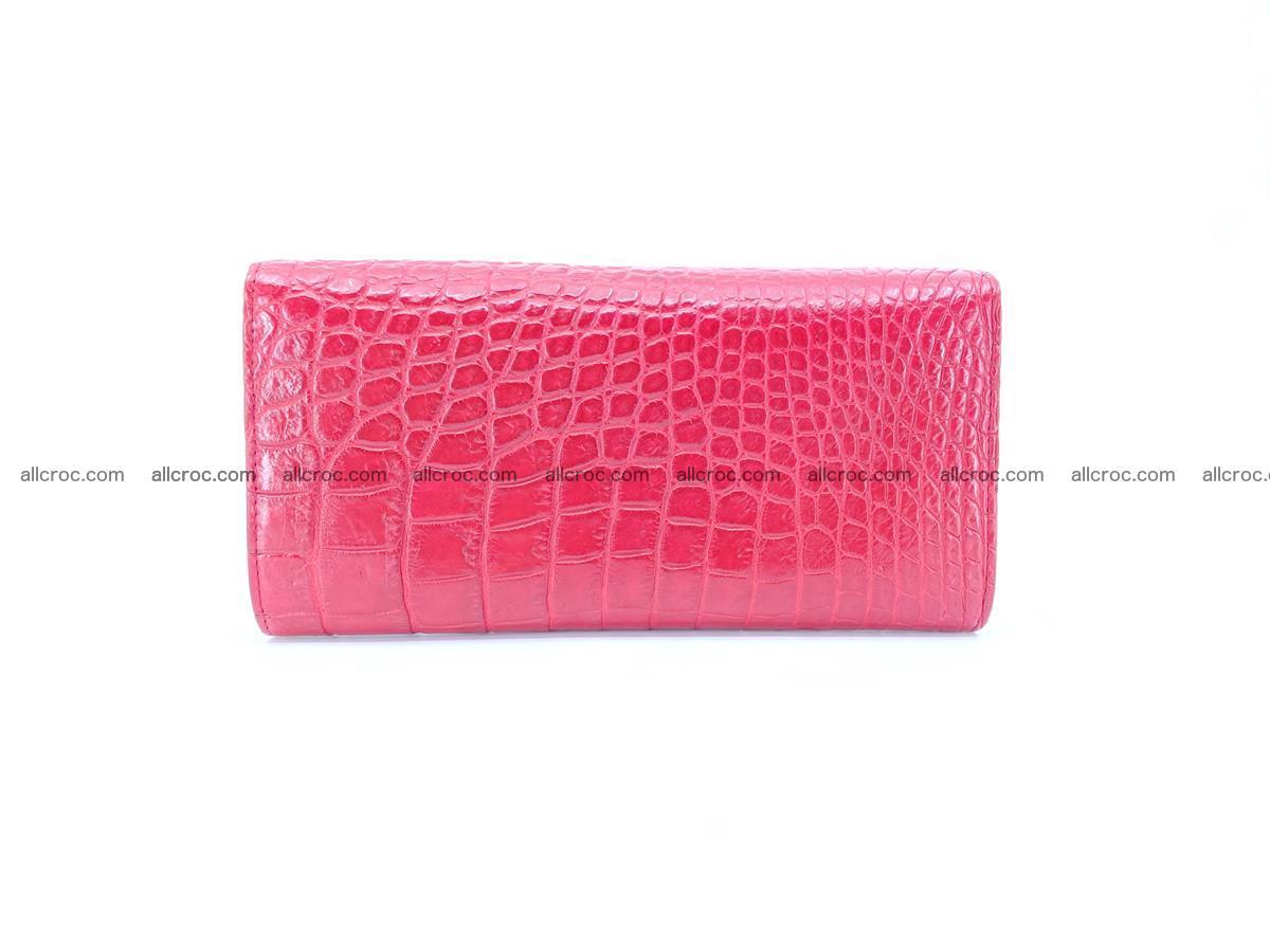 Crocodile skin wallet trifold for women 514 Foto 1