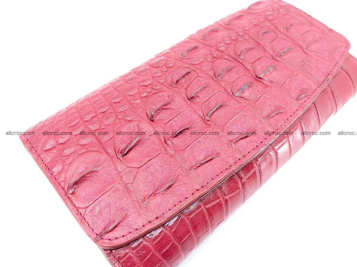 Crocodile skin wallet trifold for women 514 Foto 2