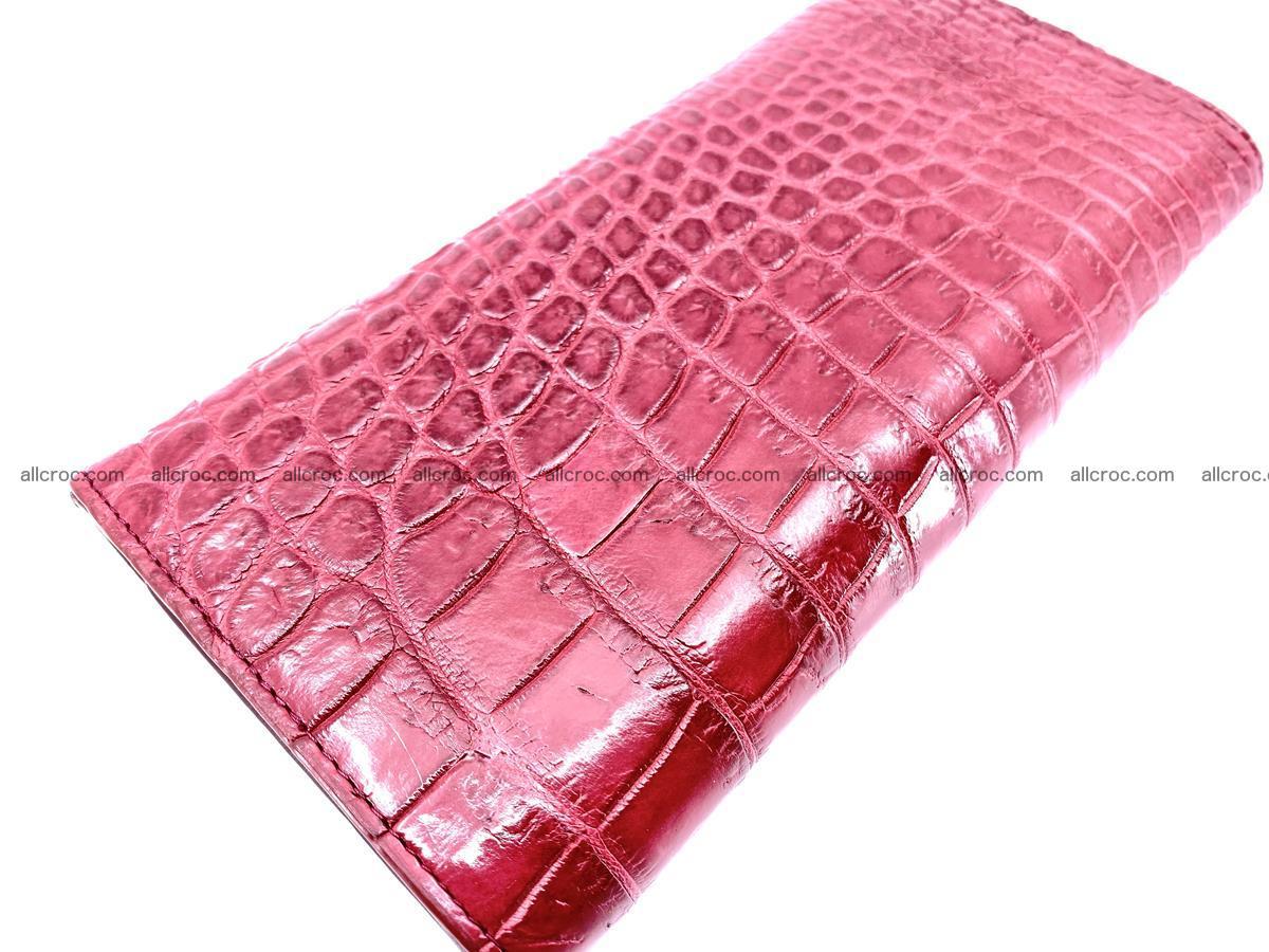 Crocodile skin wallet trifold for women 514 Foto 3