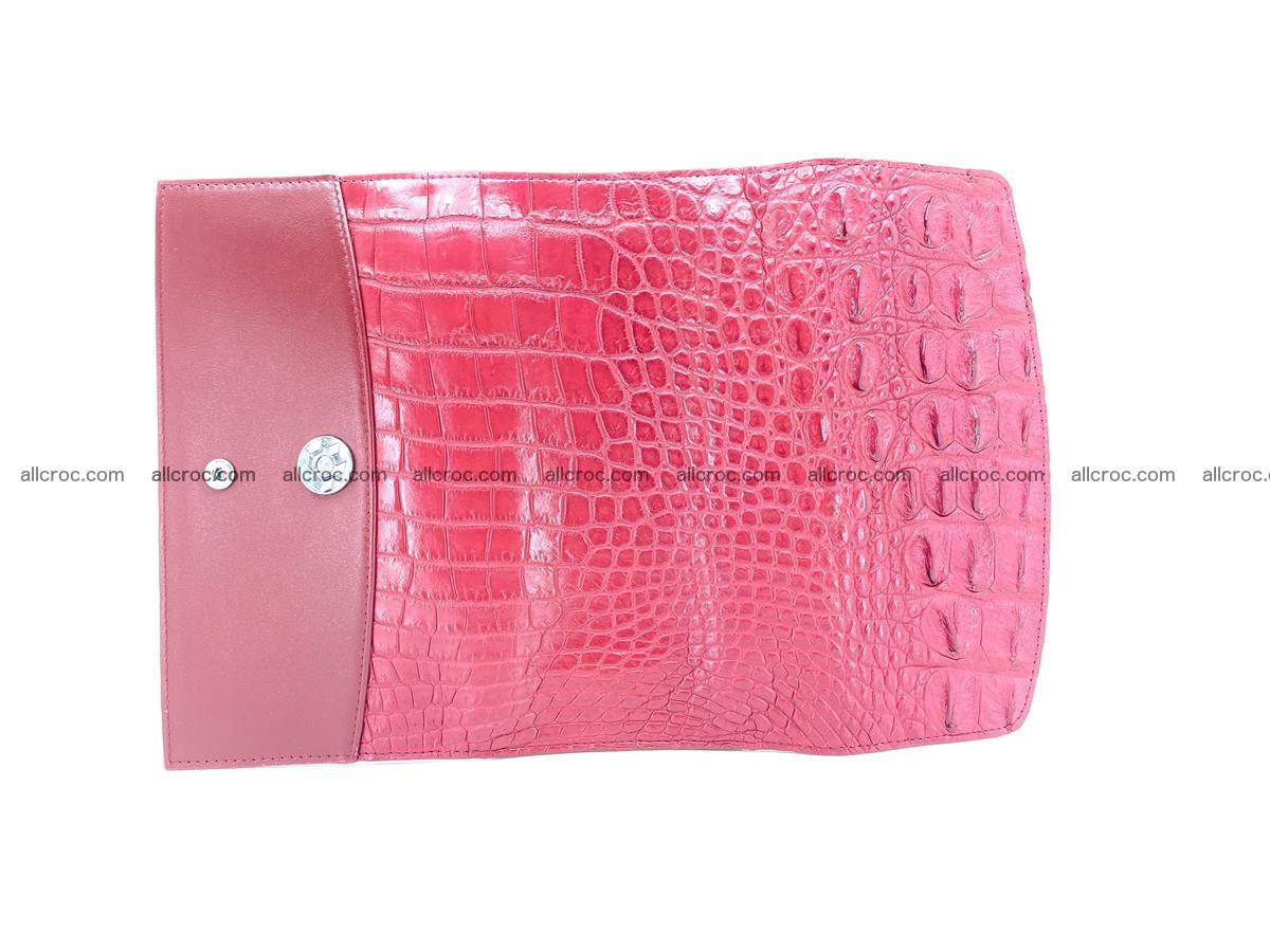 Crocodile skin wallet trifold for women 514 Foto 9