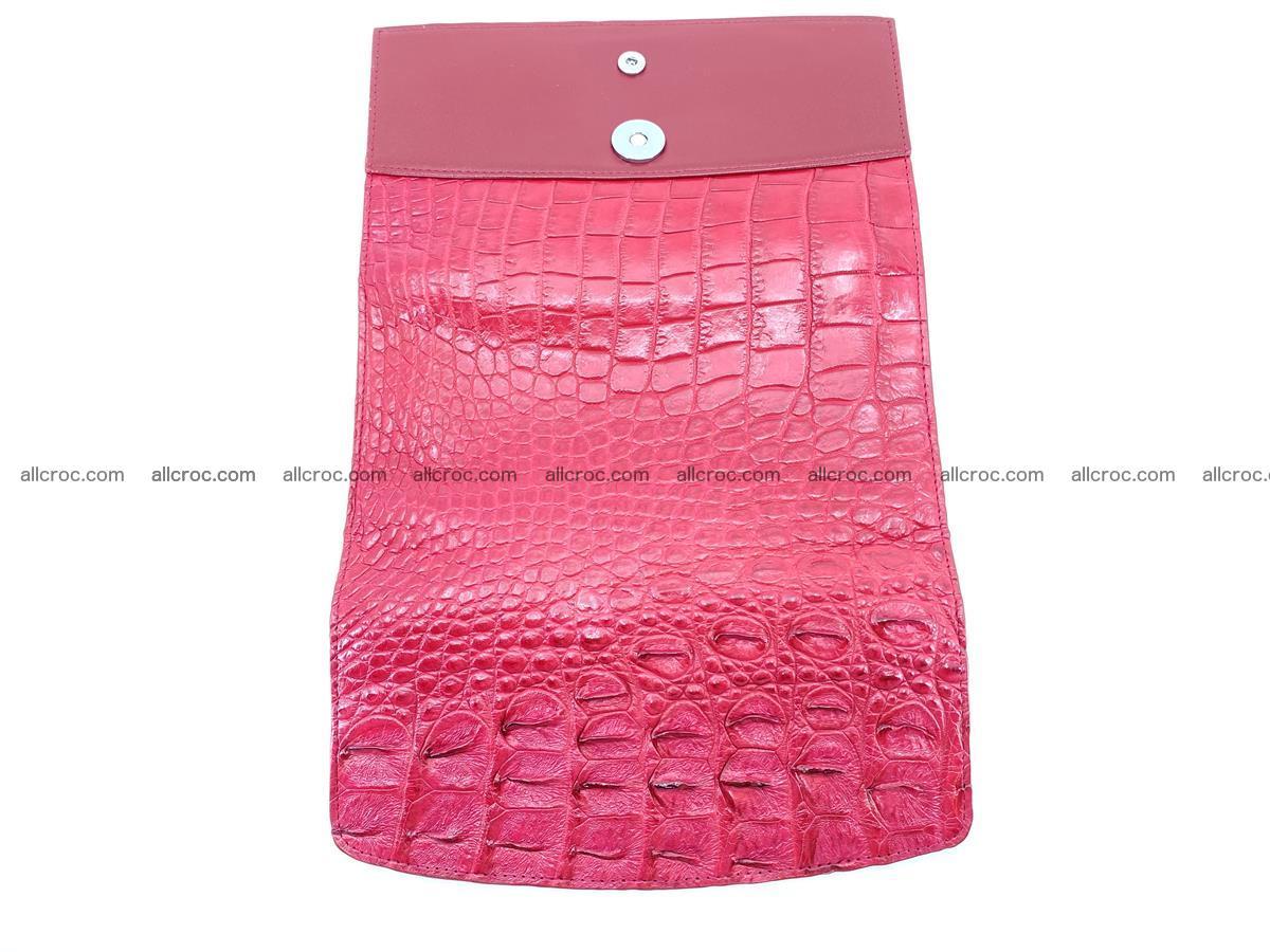 Crocodile skin wallet trifold for women 514 Foto 8
