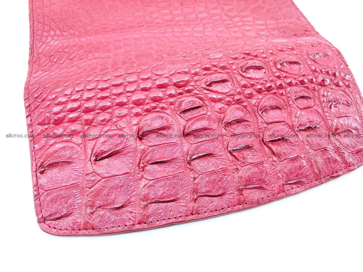 Crocodile skin wallet trifold for women 514 Foto 4