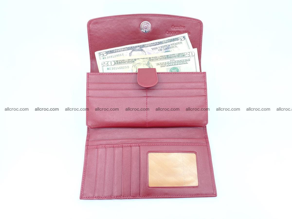 Crocodile skin wallet trifold for women 514 Foto 5