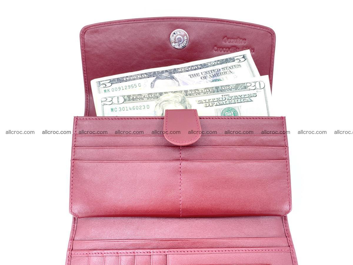 Crocodile skin wallet trifold for women 514 Foto 7