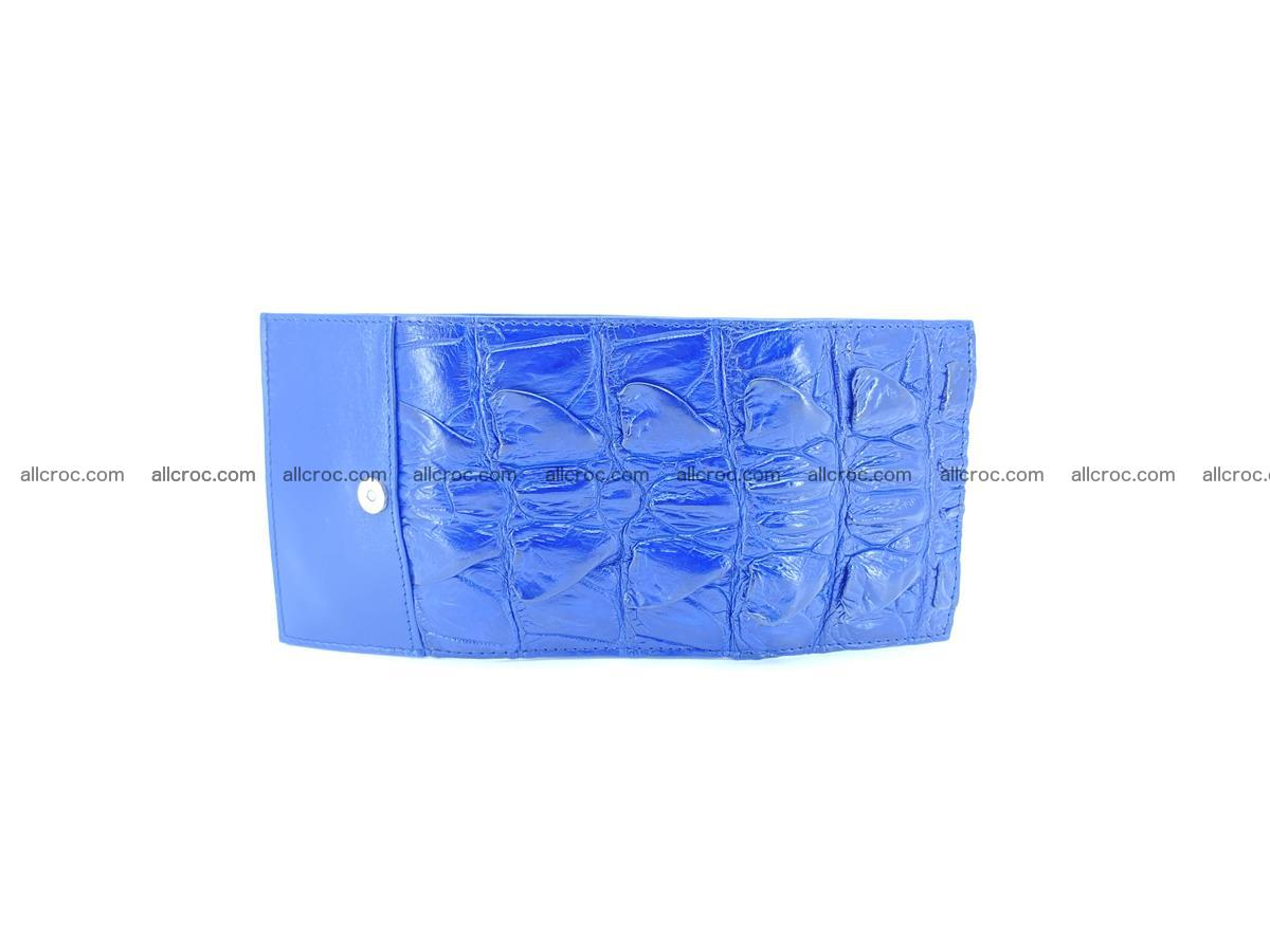 Crocodile skin wallet trifold mini with coins compartment 499 Foto 6