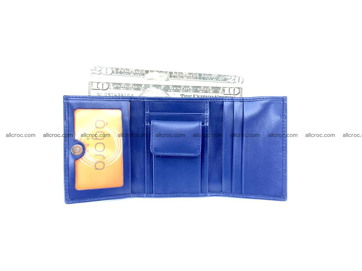 Crocodile skin wallet trifold mini with coins compartment 502 Foto 9