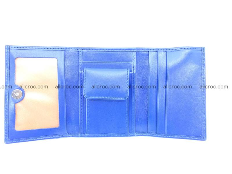 Crocodile skin wallet trifold mini with coins compartment 498