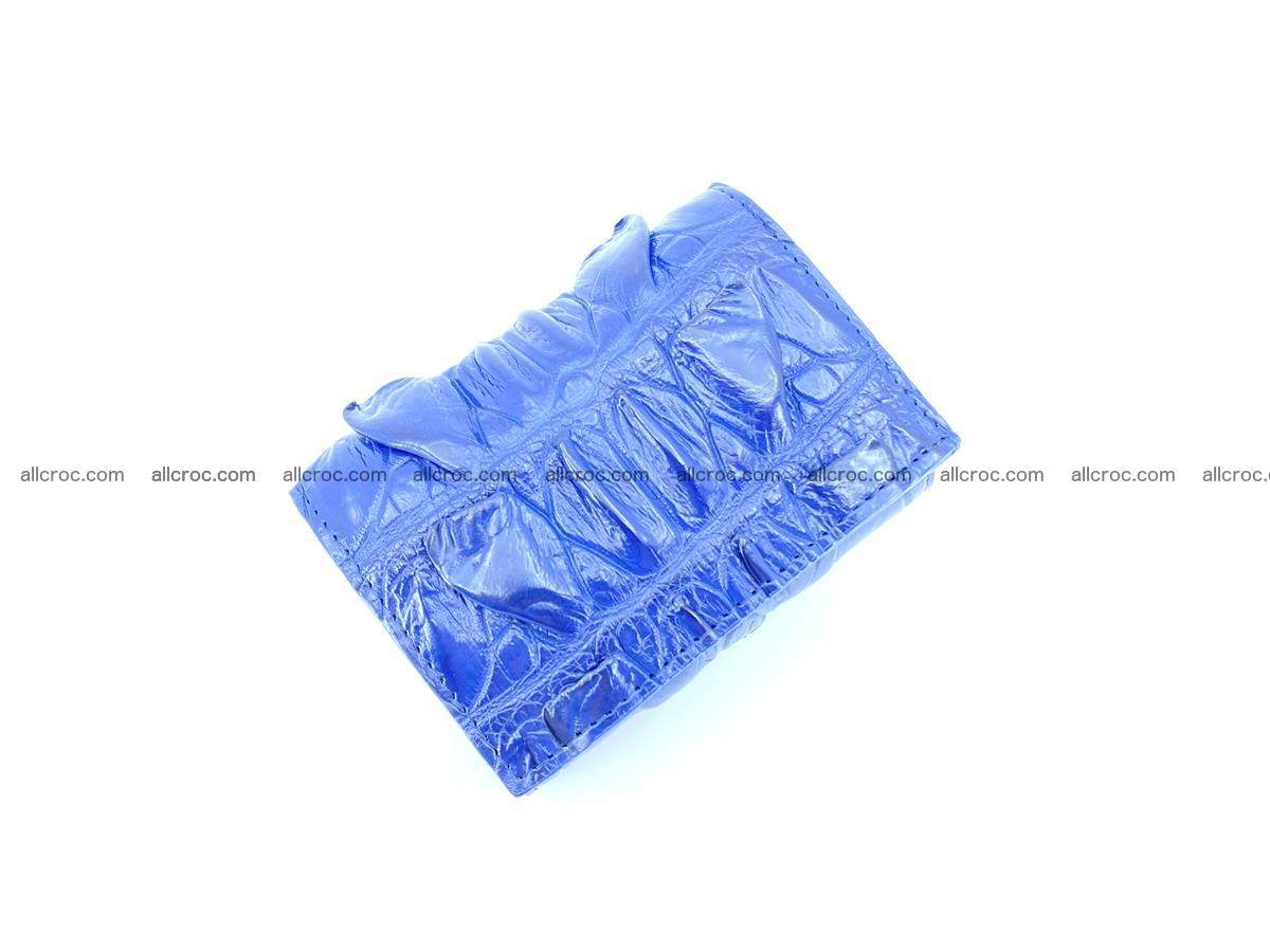 Crocodile skin wallet trifold mini with coins compartment 499 Foto 4