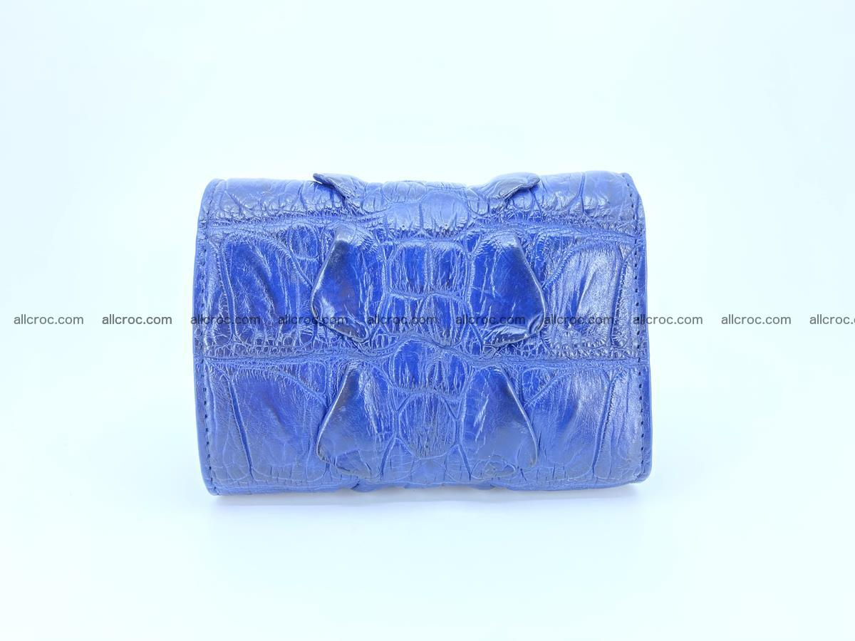 Crocodile skin wallet trifold mini with coins compartment 964 Foto 1