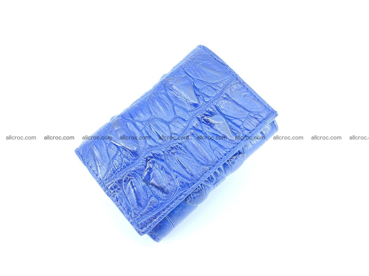 Crocodile skin wallet trifold mini with coins compartment 964 Foto 2