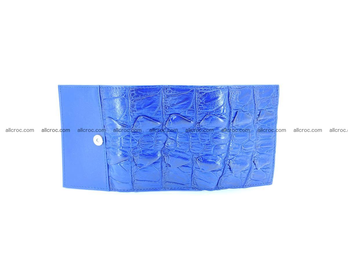 Crocodile skin wallet trifold mini with coins compartment 964 Foto 8