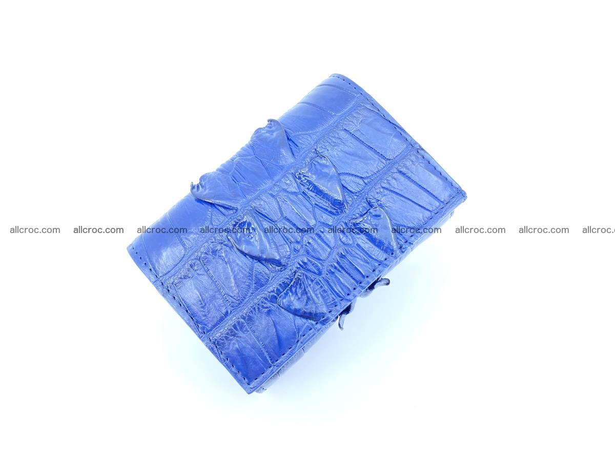 Crocodile skin wallet trifold mini with coins compartment 965 Foto 2