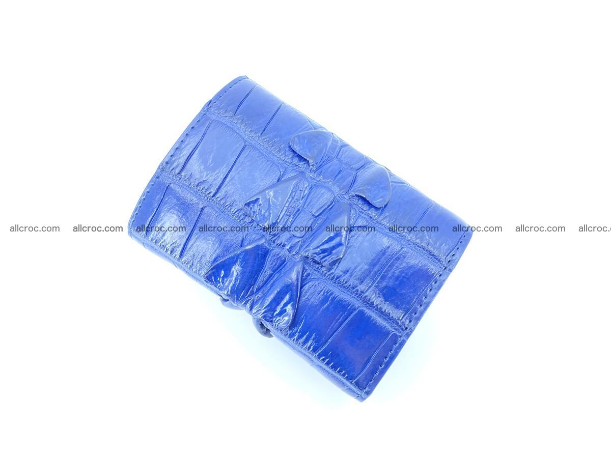 Crocodile skin wallet trifold mini with coins compartment 965 Foto 3