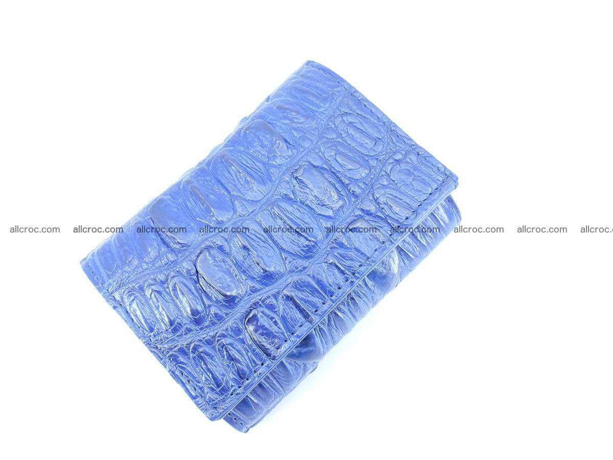 Crocodile skin wallet trifold mini with coins compartment 498 Foto 2