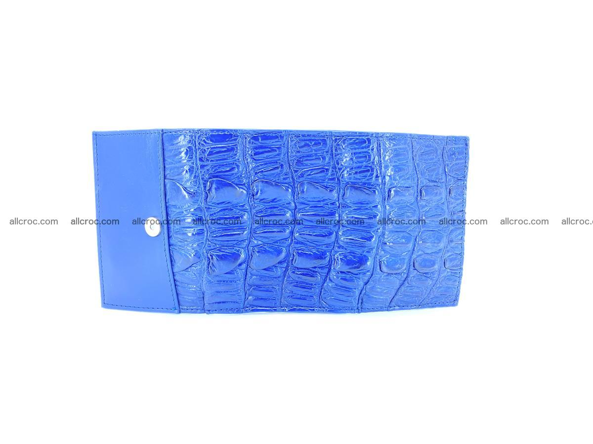 Crocodile skin wallet trifold mini with coins compartment 498 Foto 6