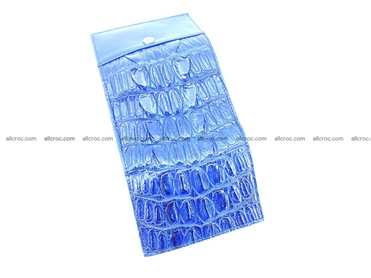 Crocodile skin wallet trifold mini with coins compartment 498 Foto 7