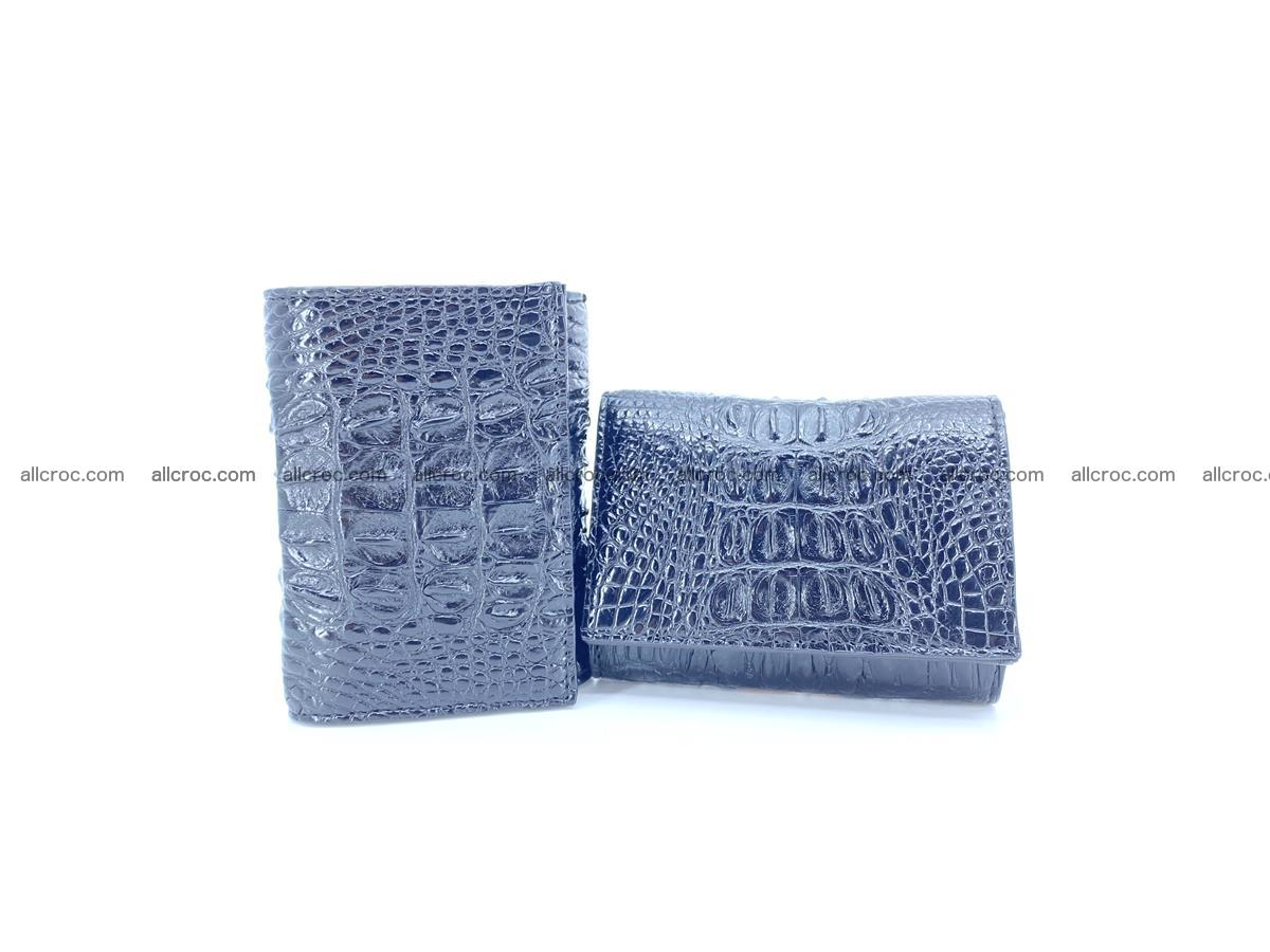 Crocodile skin wallet trifold mini with coins compartment 966 Foto 2