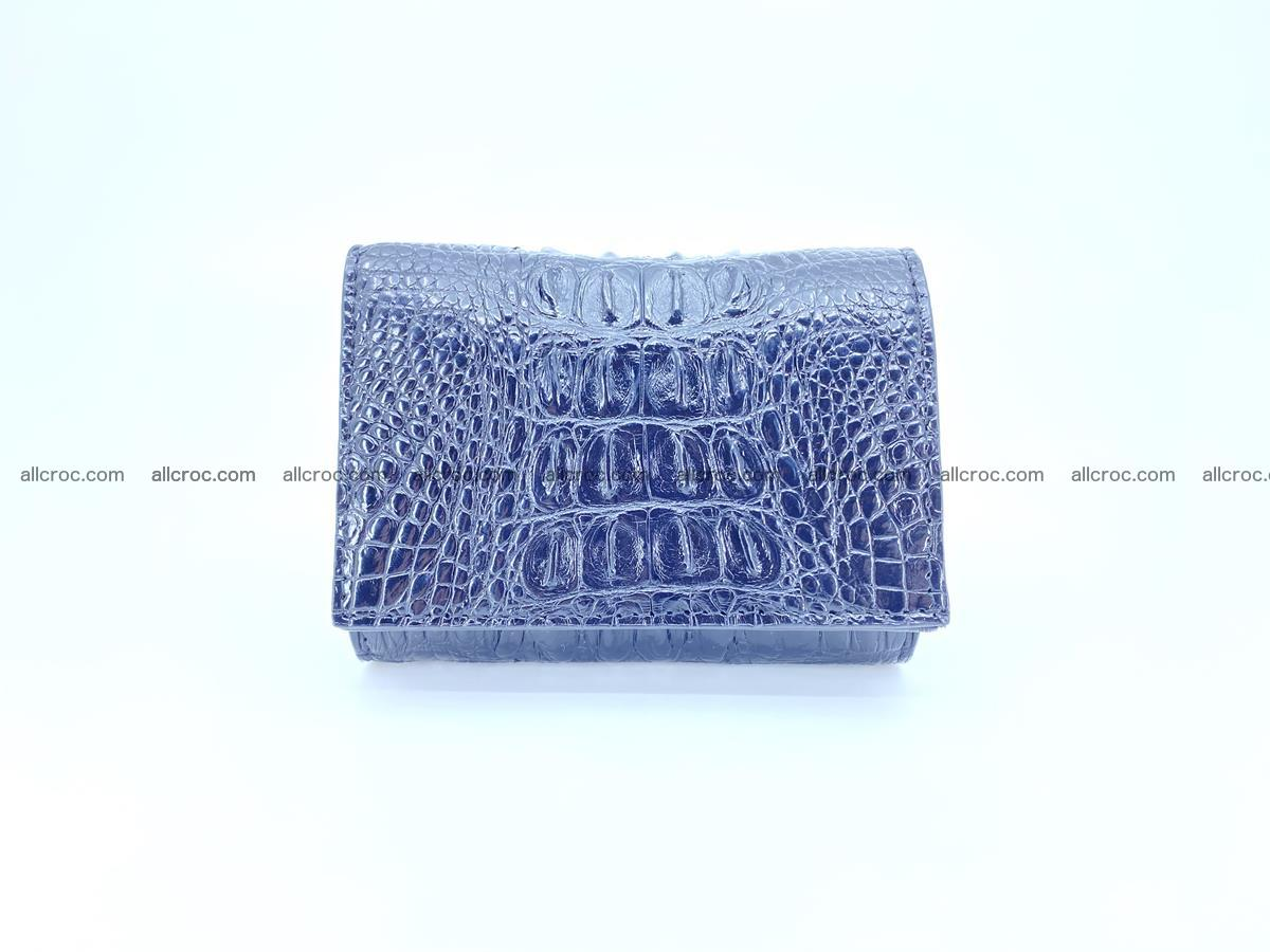 Crocodile skin wallet trifold mini with coins compartment 497 Foto 0