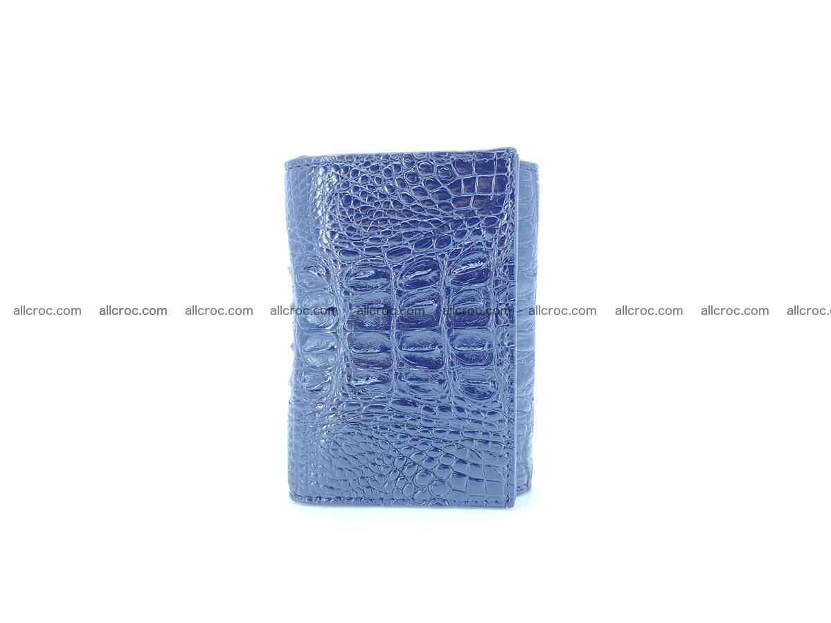 Crocodile skin wallet trifold mini with coins compartment 497 Foto 3