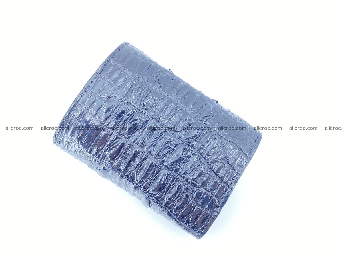 Crocodile skin wallet trifold mini with coins compartment 497 Foto 6