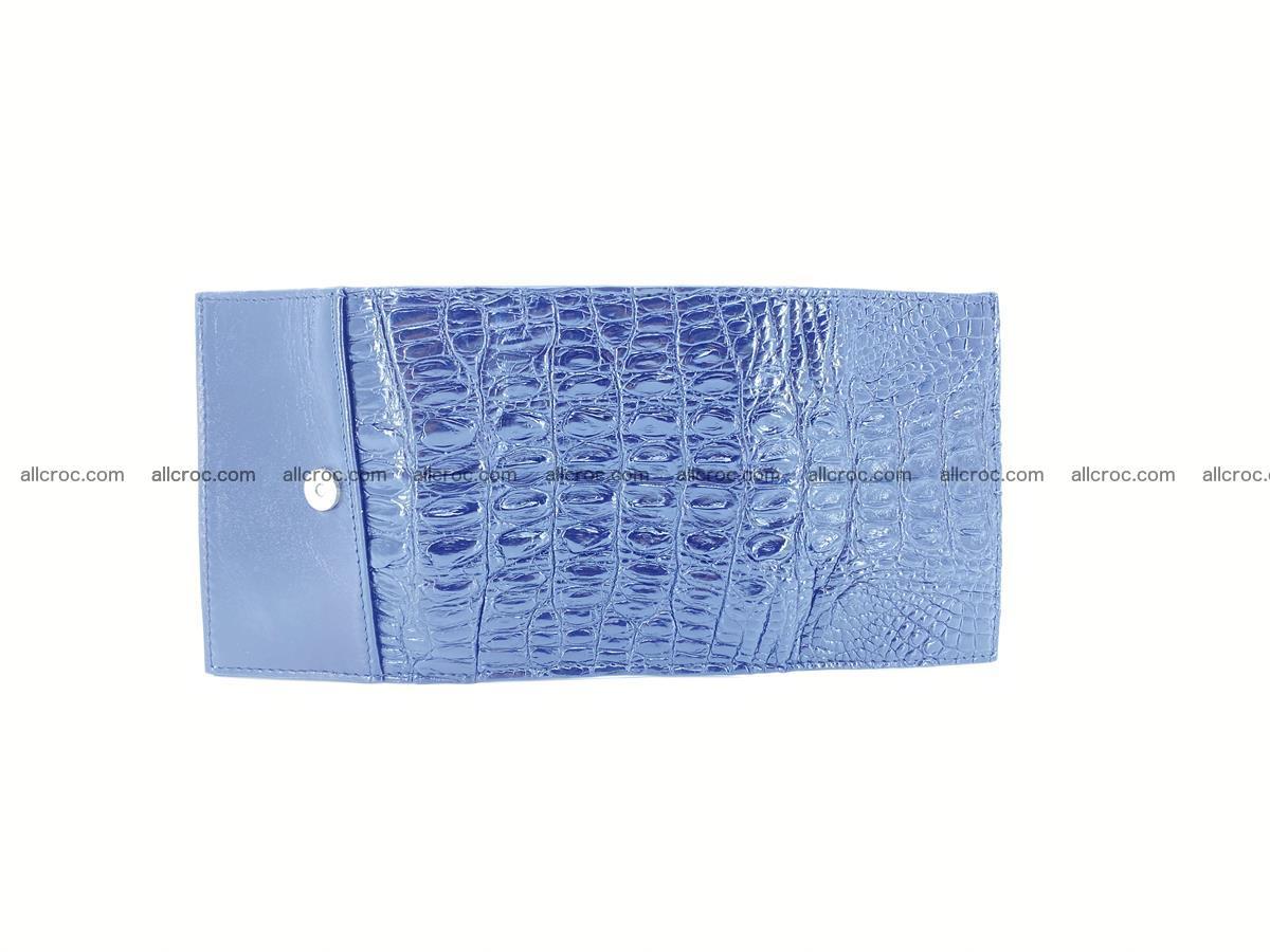 Crocodile skin wallet trifold mini with coins compartment 497 Foto 7