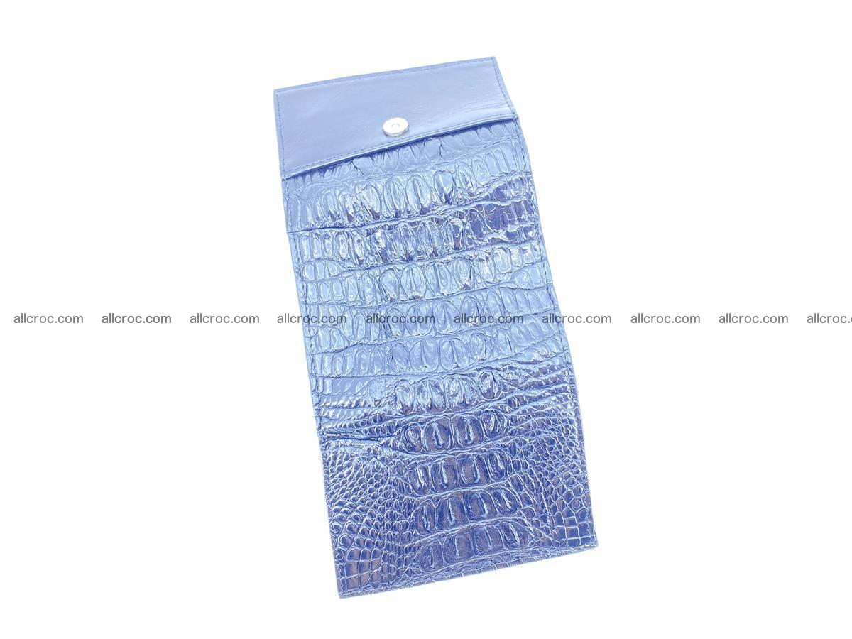 Crocodile skin wallet trifold mini with coins compartment 497 Foto 8