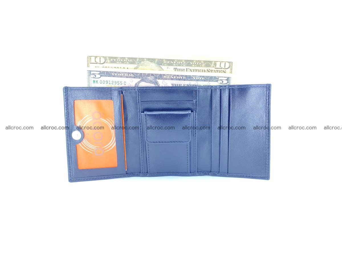 Crocodile skin wallet trifold mini with coins compartment 966 Foto 10