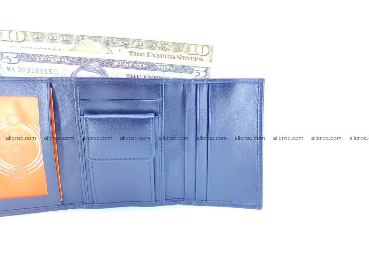 Crocodile skin wallet trifold mini with coins compartment 497 Foto 11