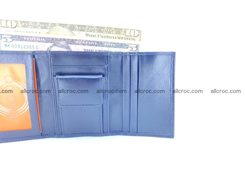 Crocodile skin wallet trifold mini with coins compartment 500
