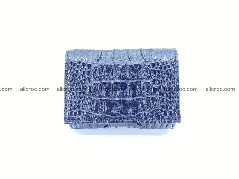 Crocodile skin wallet trifold mini with coins compartment 966