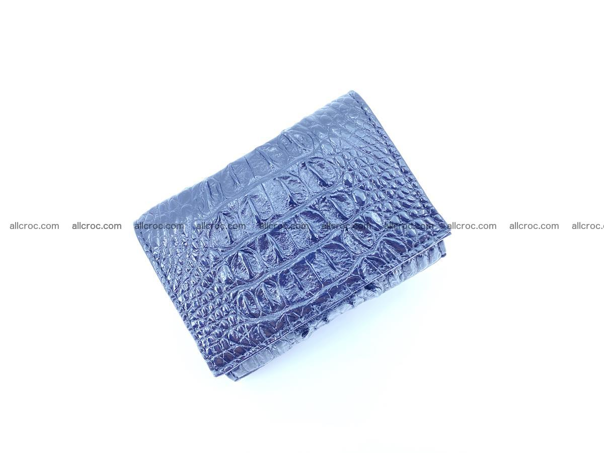 Crocodile skin wallet trifold mini with coins compartment 966 Foto 5