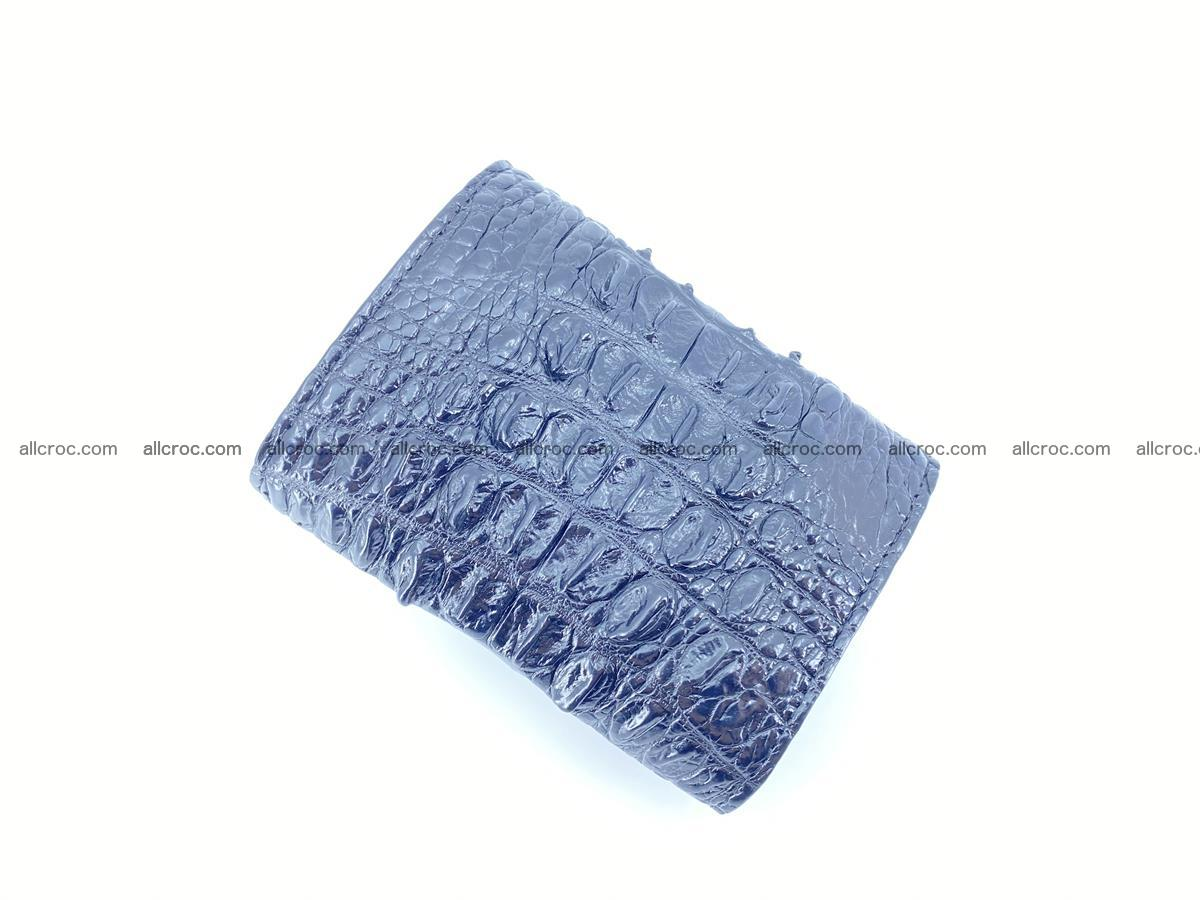 Crocodile skin wallet trifold mini with coins compartment 966 Foto 6