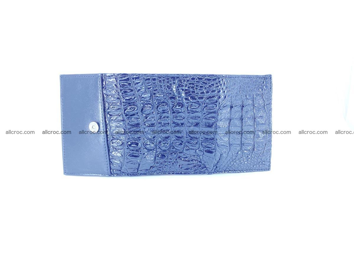 Crocodile skin wallet trifold mini with coins compartment 966 Foto 12