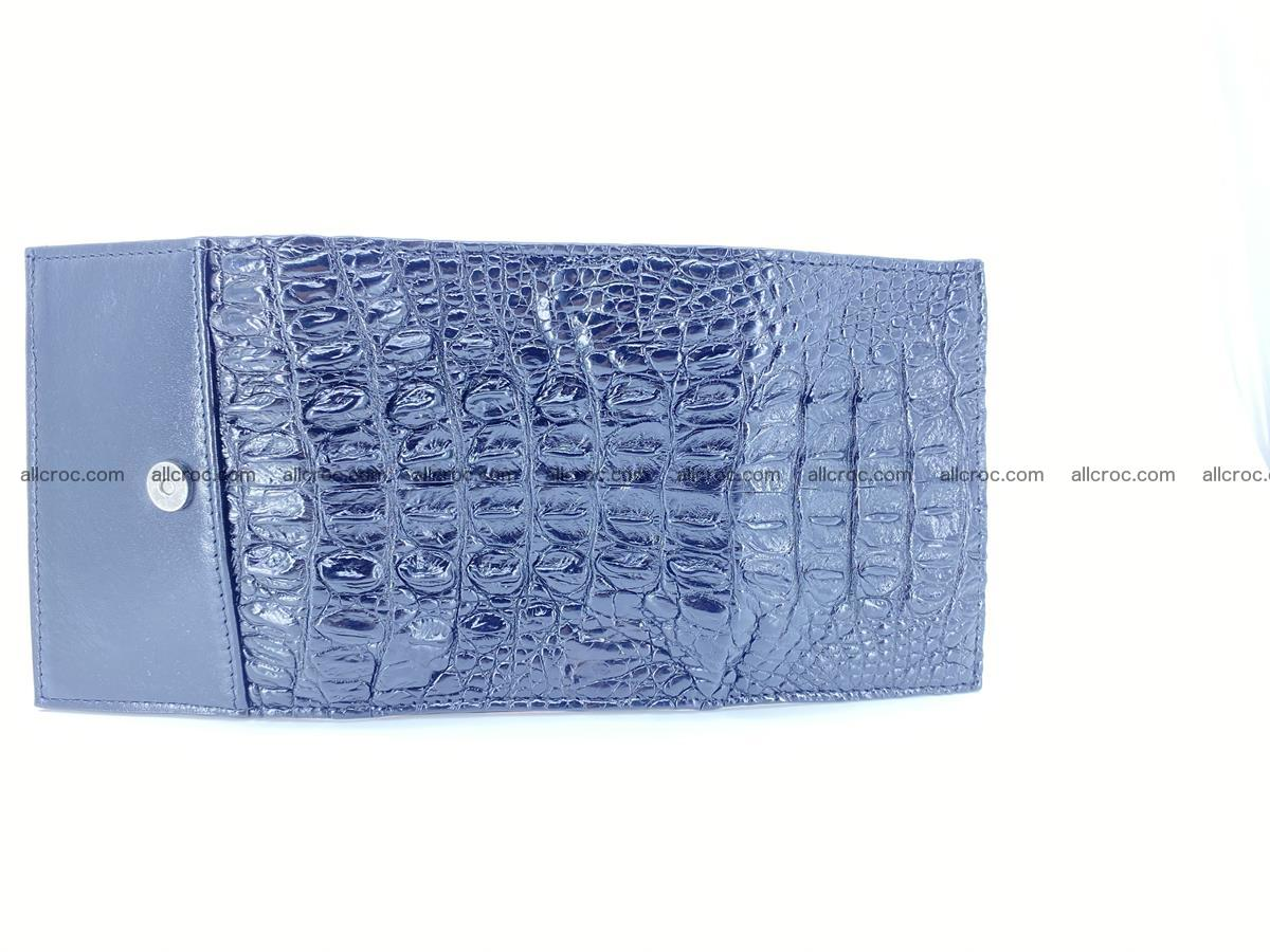 Crocodile skin wallet trifold mini with coins compartment 966 Foto 7