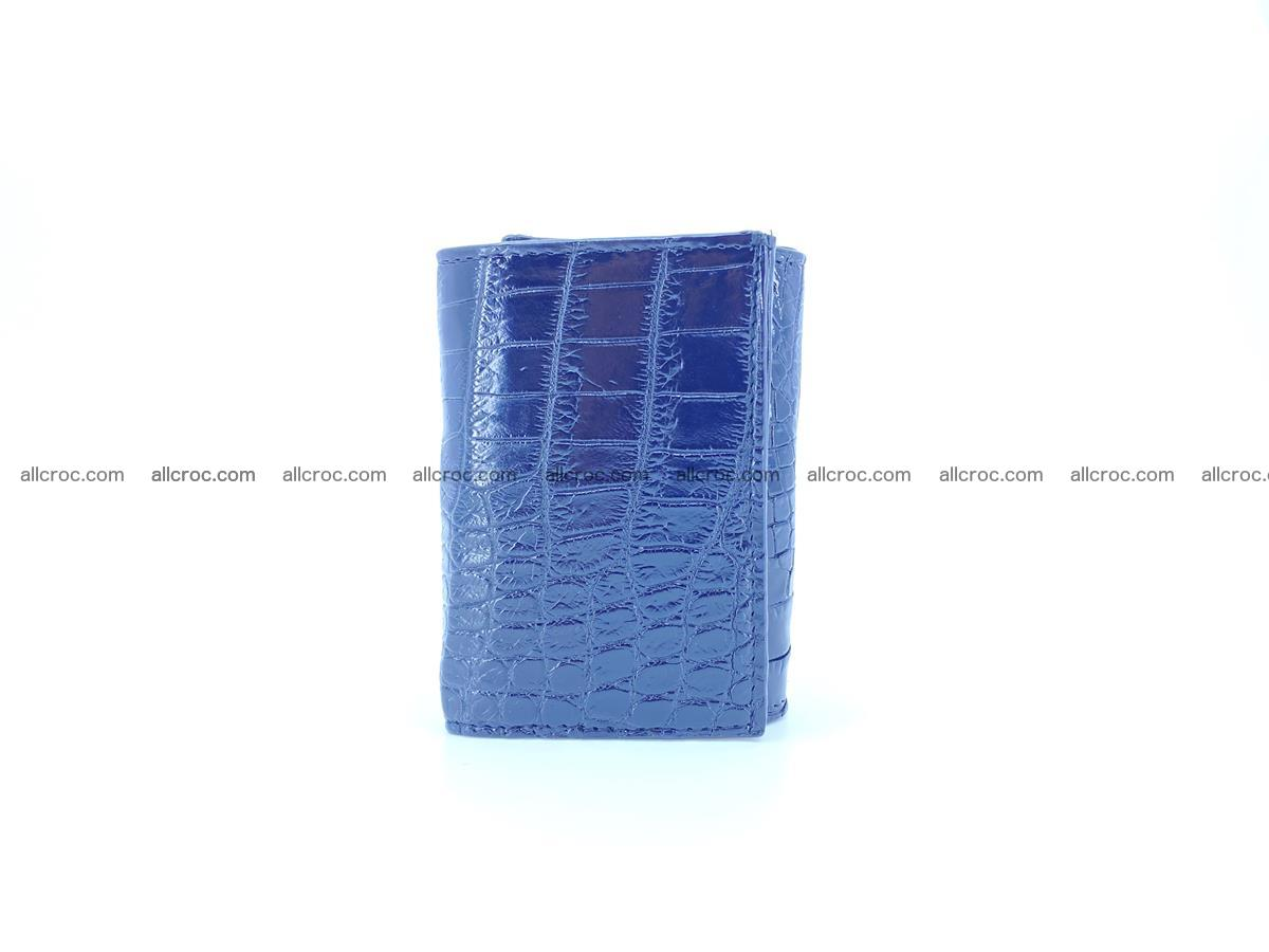 Crocodile skin wallet trifold mini with coins compartment 500 Foto 3