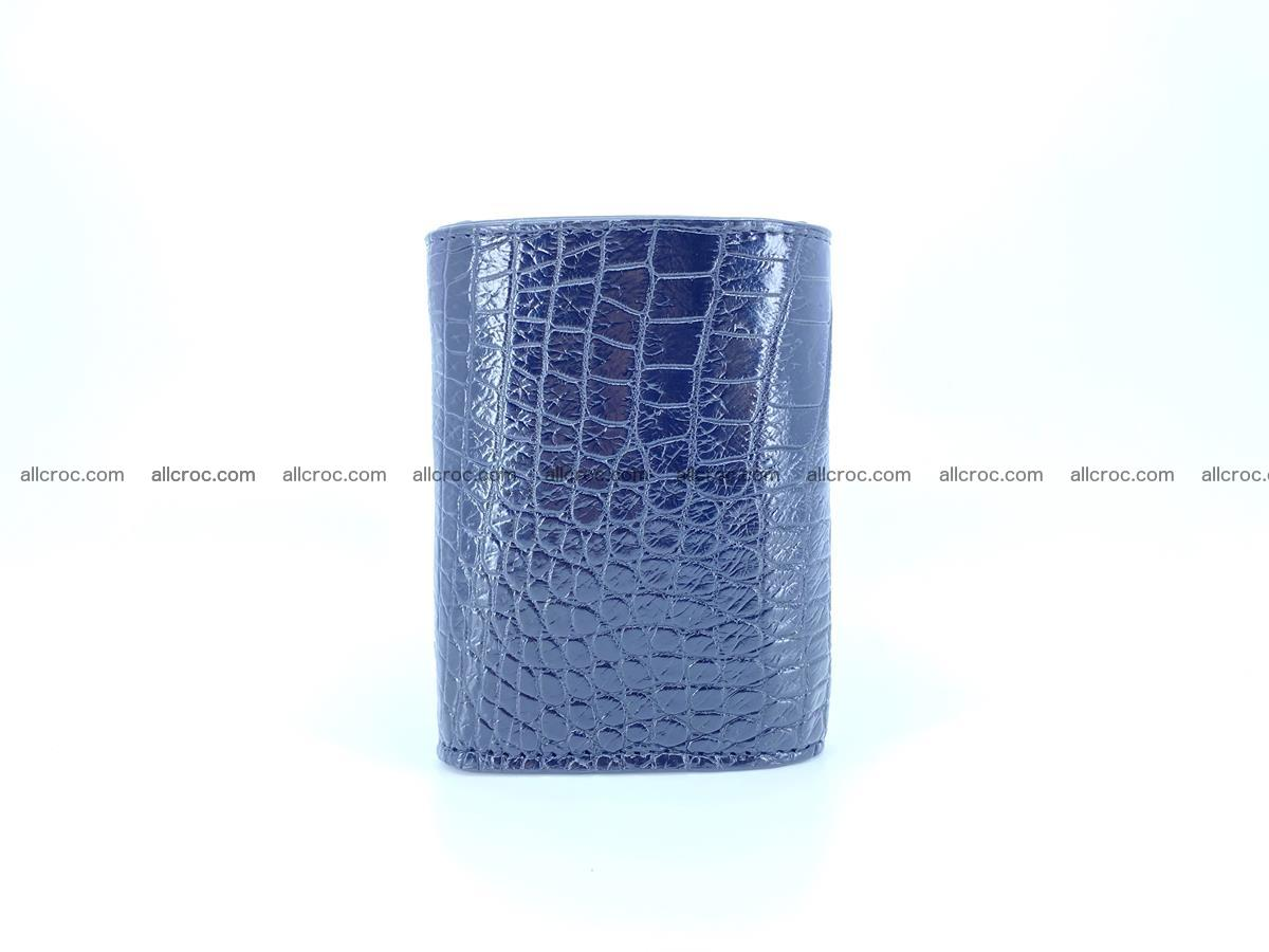 Crocodile skin wallet trifold mini with coins compartment 500 Foto 2