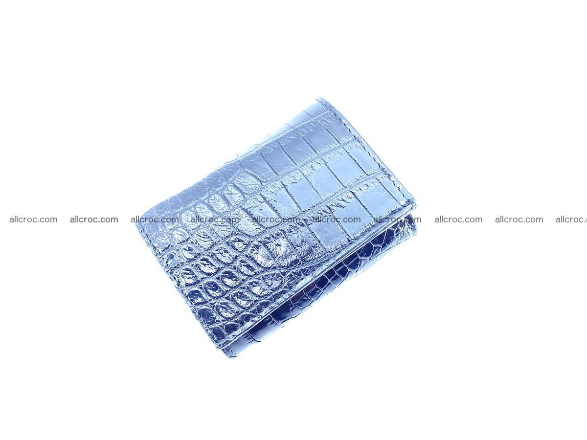 Crocodile skin wallet trifold mini with coins compartment 500 Foto 4