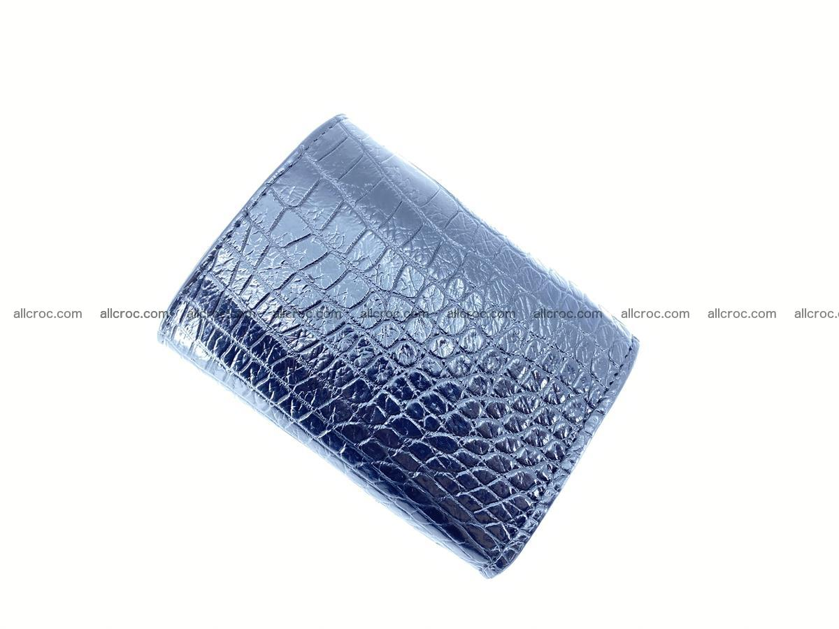 Crocodile skin wallet trifold mini with coins compartment 500 Foto 5
