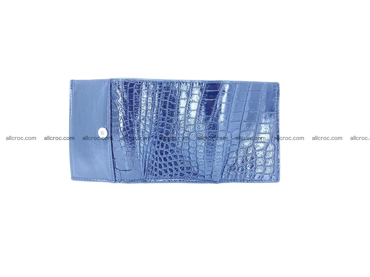 Crocodile skin wallet trifold mini with coins compartment 500 Foto 6