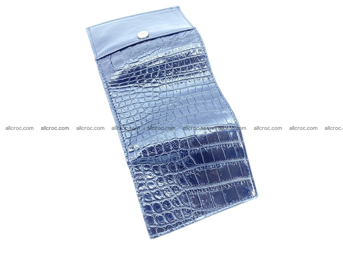 Crocodile skin wallet trifold mini with coins compartment 500 Foto 7