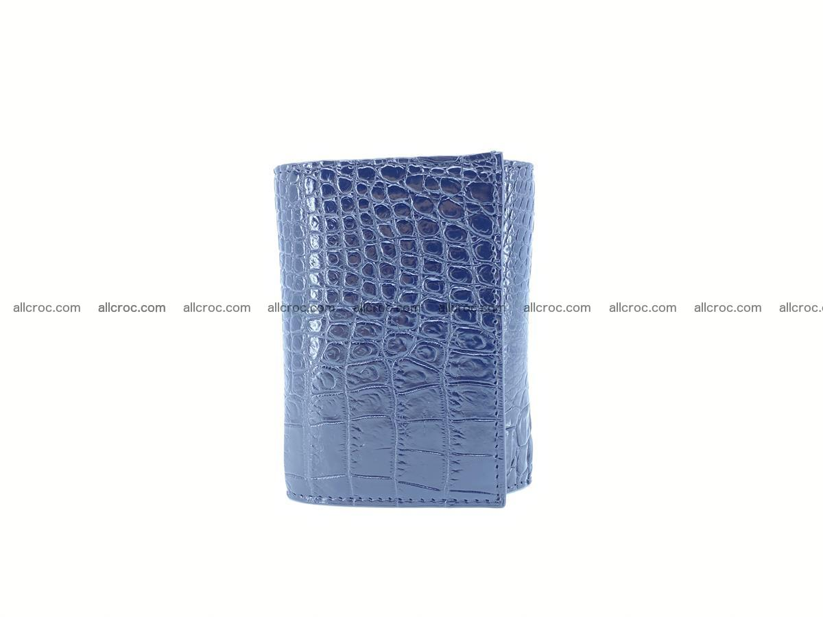 Crocodile skin wallet trifold mini with coins compartment 967 Foto 4