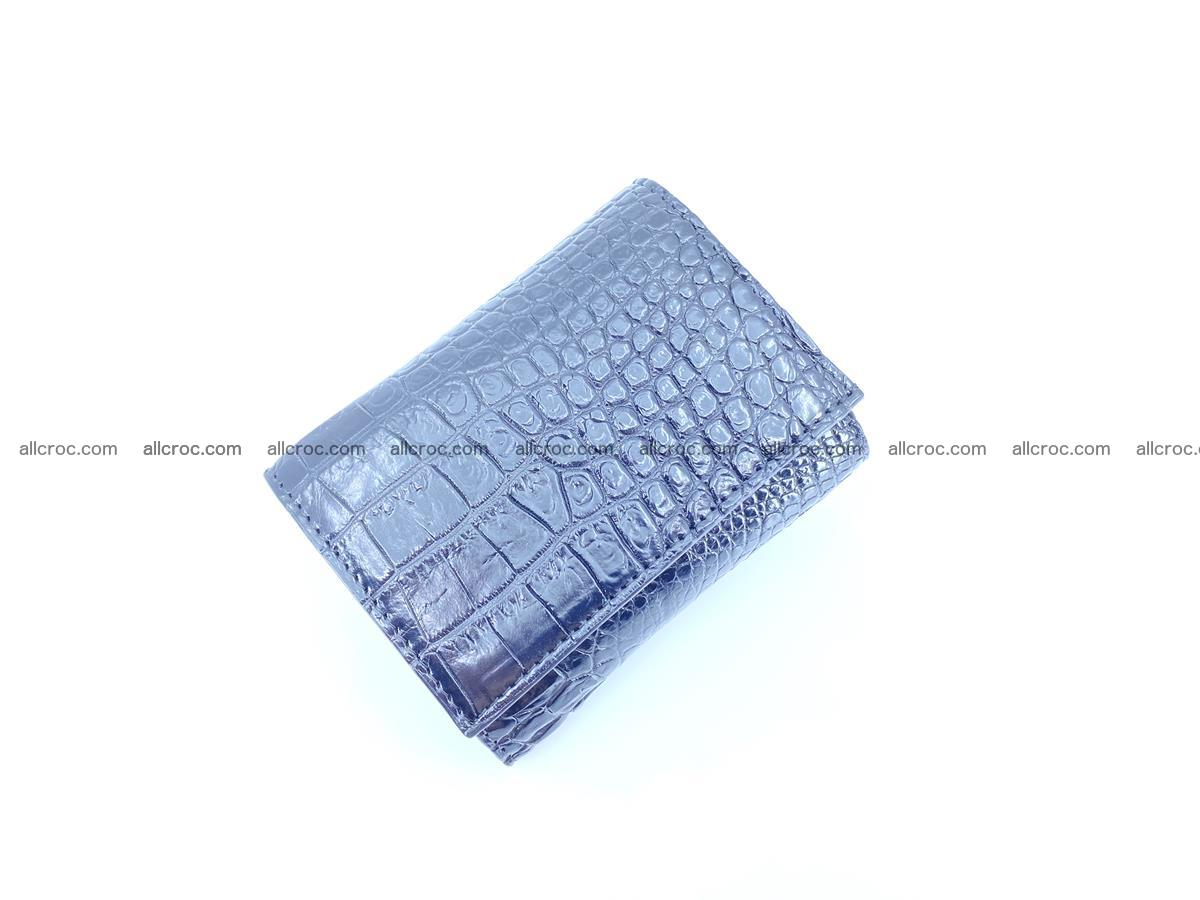 Crocodile skin wallet trifold mini with coins compartment 967 Foto 2