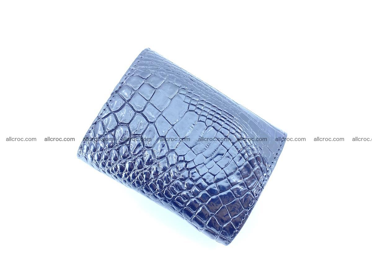 Crocodile skin wallet trifold mini with coins compartment 967 Foto 3