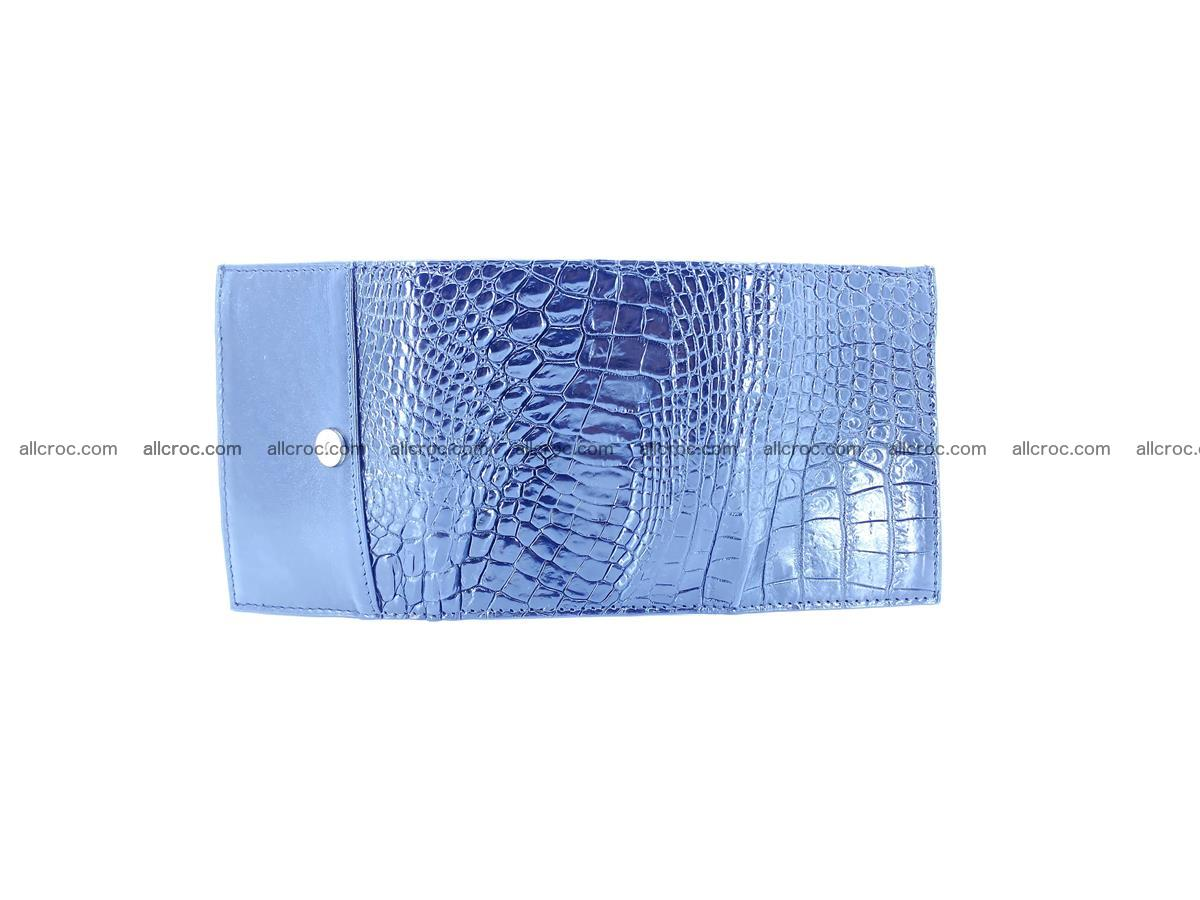 Crocodile skin wallet trifold mini with coins compartment 967 Foto 6