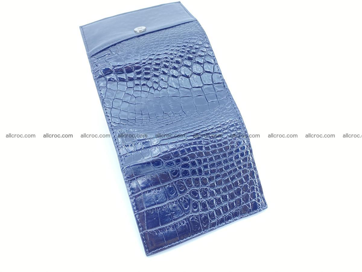 Crocodile skin wallet trifold mini with coins compartment 967 Foto 7