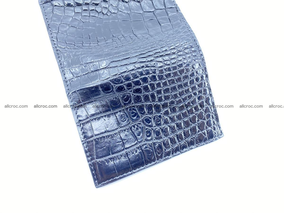 Crocodile skin wallet trifold mini with coins compartment 967 Foto 8