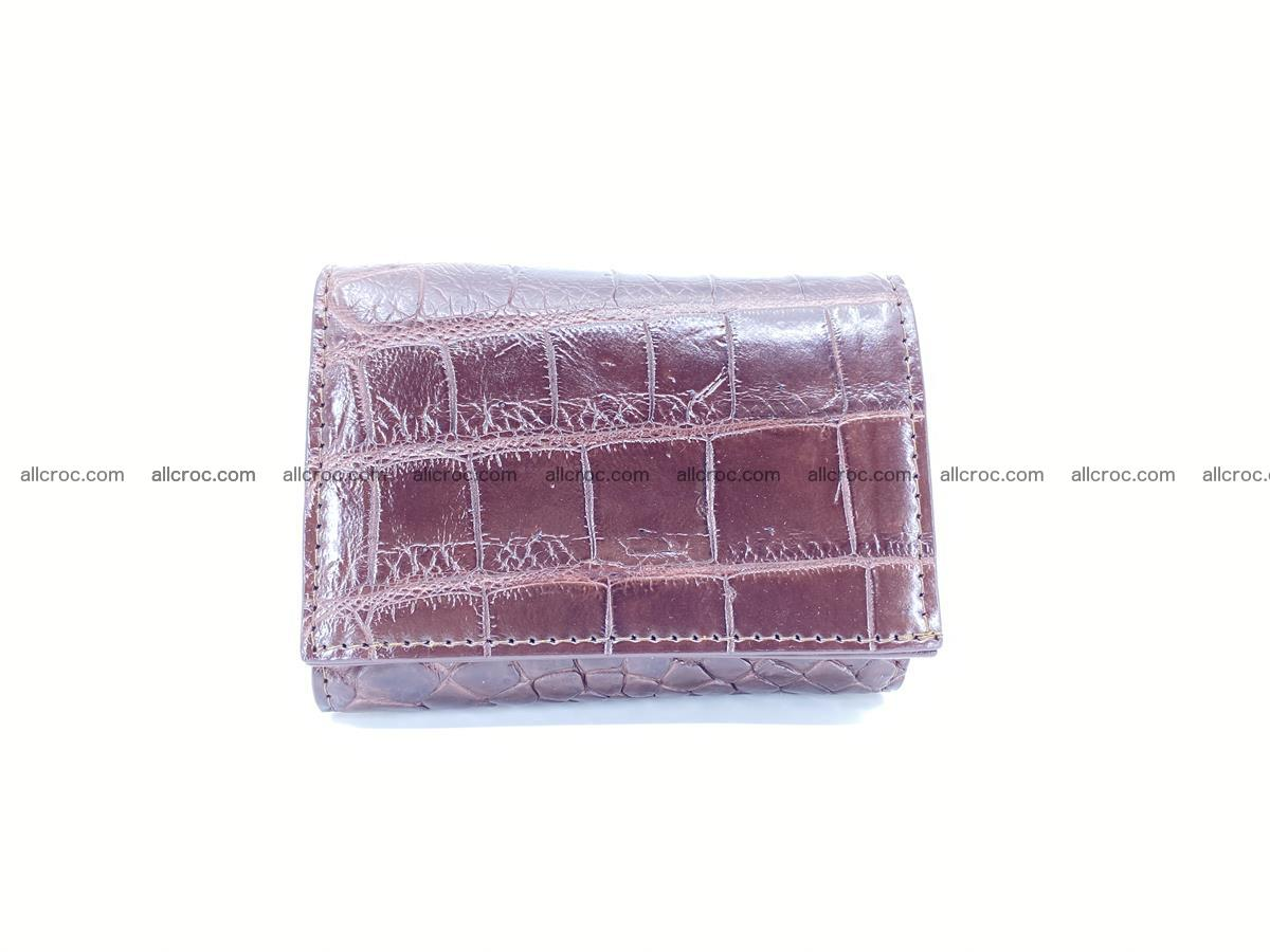 Crocodile skin wallet trifold mini with coins compartment 501 Foto 0