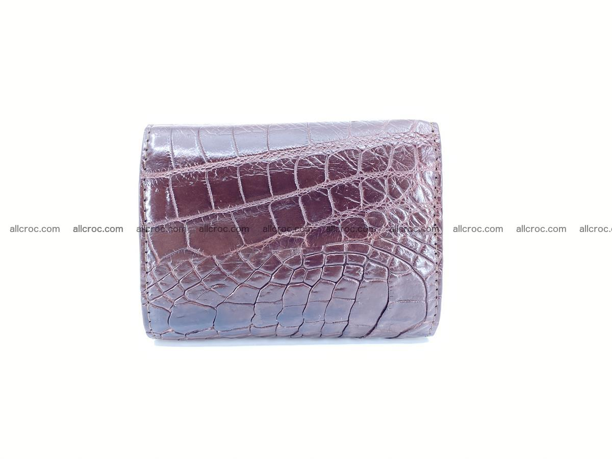 Crocodile skin wallet trifold mini with coins compartment 501 Foto 1
